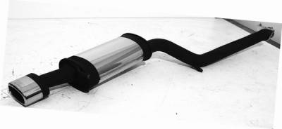 Exhaust - Mufflers - Remus - Audi RS6 Remus Rear Silencer - Left Side with Exhaust Tip - Oval - 049102 0514ML