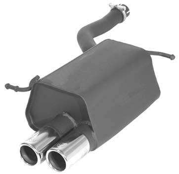 Exhaust - Mufflers - Remus - Mercedes-Benz SLK Remus Rear Silencer - Right Side with Dual Exhaust Tips - Round - 505004 0554R
