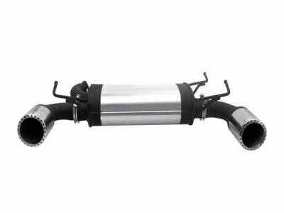 Exhaust - Mufflers - Remus - Nissan 350Z Remus Duplix Rear Silencer with Left with Right Sides with Exhaust Tip - Round - Turbo Design - 609003 1580TD