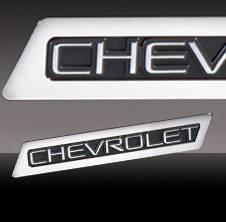Suburban - Body Kit Accessories - Pilot - Chevrolet Suburban Pilot Stainless Steel Trim Logo - 1PC - ST-122T