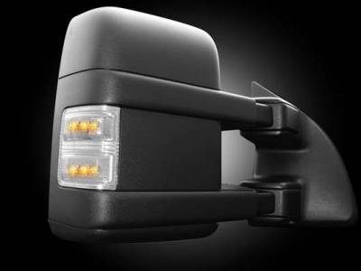 F250 - Mirrors - Recon - Recon LED Side Mirror Lenses with Amber Signals and Clear Lens - 2PC - 264140CL