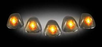 Headlights & Tail Lights - Roof Lights - Recon - Recon Smoked Cab Lens with Amber Xenon Bulbs - 5PC - 264142BK