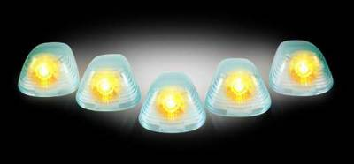 Headlights & Tail Lights - Roof Lights - Recon - Recon Super White Cab Lens with Amber Xenon Bulbs - 5PC - 264142SW