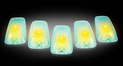 Headlights & Tail Lights - Roof Lights - Recon - Recon Super White Cab Lens with Amber Xenon Bulbs - 5PC - 264159SW