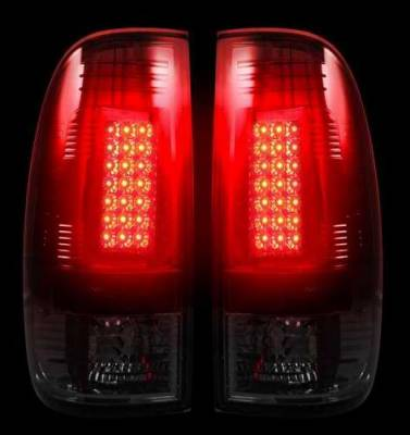 Headlights & Tail Lights - Tail Lights - Recon - Recon LED Taillights with Dark Smoked Lens - 264172BK