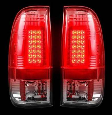 Headlights & Tail Lights - Tail Lights - Recon - Recon Clear LED Taillights - 264172CL