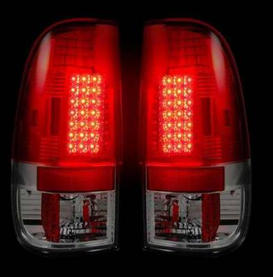 Headlights & Tail Lights - Tail Lights - Recon - Recon LED Taillights with Dark Red Lens - 264172RD