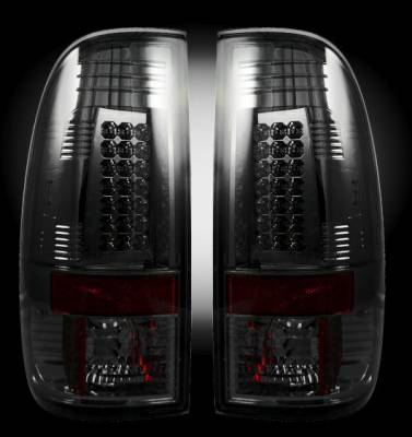 Headlights & Tail Lights - Tail Lights - Recon - Ford Superduty Recon LED Taillights - Smoked Lens - 264176BK