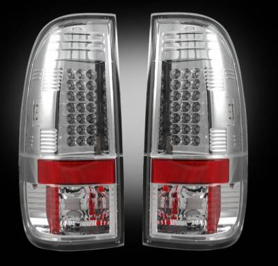 Headlights & Tail Lights - Tail Lights - Recon - Ford Superduty Recon LED Taillights - Clear Lens - 264176CL