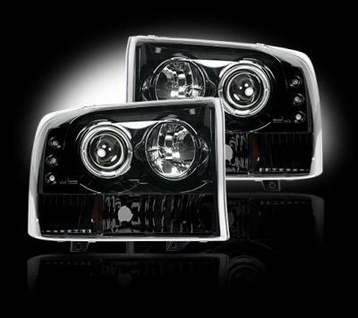 Headlights & Tail Lights - Headlights - Recon - Ford Superduty F350 DRW Recon Projector Headlights - 264192BK