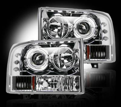 Headlights & Tail Lights - Headlights - Recon - Ford Superduty F350 DRW Recon Projector Headlights - 264192CL