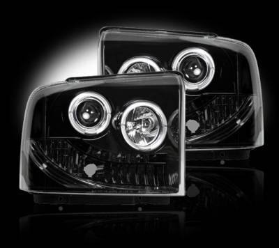 Headlights & Tail Lights - Headlights - Recon - Ford Superduty F350 DRW Recon Projector Headlights - 264193BK