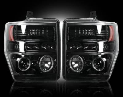 Headlights & Tail Lights - Headlights - Recon - Ford F550 Recon Projector Headlights - 264196BK