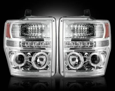 Headlights & Tail Lights - Headlights - Recon - Ford Superduty F350 DRW Recon Projector Headlights - 264196CL