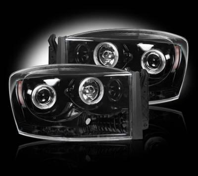Recon - Dodge Ram Recon Projector Headlights - 264199BK