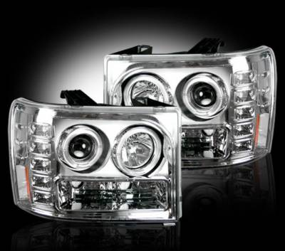 Headlights & Tail Lights - Headlights - Recon - GMC Sierra Recon Projector Headlights - 264271CL