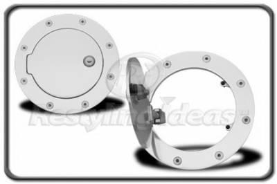 Accessories - Fuel Tank Covers - Restyling Ideas - GMC Sierra Restyling Ideas Fuel Door Kit - Aluminum Billet - 34-GD-102CKE