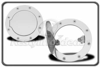 Accessories - Fuel Tank Covers - Restyling Ideas - GMC Sierra Restyling Ideas Fuel Door Kit - Aluminum Billet - 34-GD-102E
