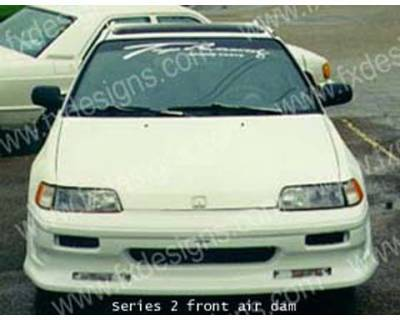 CRX - Body Kits - FX Designs - Honda CRX FX Design S2 Combat Style Full Body Kit - FX-782K