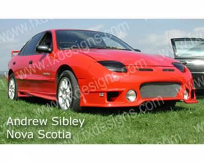 Sunfire - Body Kits - FX Designs - Pontiac Sunfire FX Design Rally Style Full Body Kit - FX-9124K