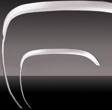 S10 - Fender Flares - Pilot - Chevrolet S10 Pilot Stainless Steel Fender Trim - Long - Set - WF-2211L