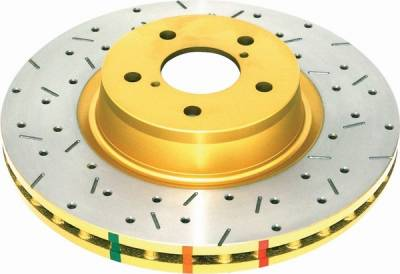 Brakes - Brake Rotors - DBA - Ford Mustang DBA Cross-Drilled & Slotted Rotors