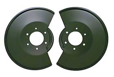 Brakes - Brake Components - Omix - Omix Brake Rotor Splash Shield with 2 Bolt Caliper Plates - Black Powder - 11212-02