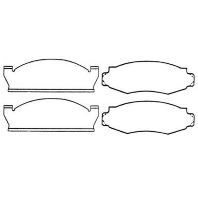 Brakes - Brake Pads - Omix - Omix Disc Brake Pad - 16728-11