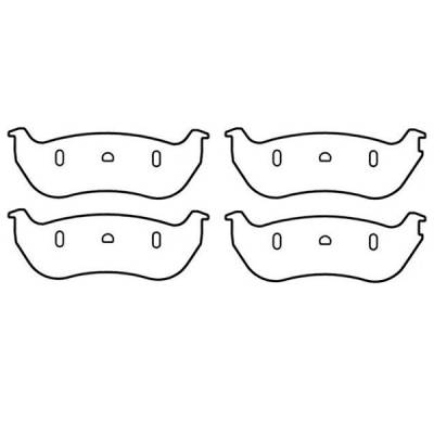 Brakes - Brake Pads - Omix - Omix Disc Brake Pad Kit - 4 Piece - 16729-1