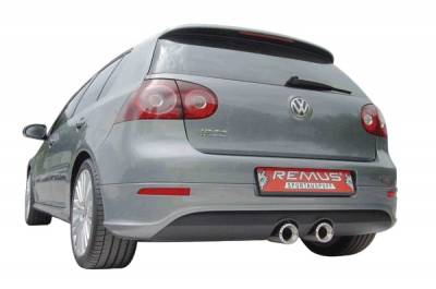 Exhaust - Mufflers - Remus - Volkswagen Golf Remus Rear Silencer with Dual Exhaust Tips - Round - 958006 5572TD