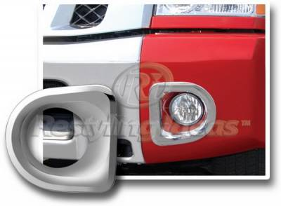 Headlights & Tail Lights - Fog Lights - Restyling Ideas - Nissan Titan Restyling Ideas Stainless Steel Bumper Fog Lamp Bezel - 62813SS