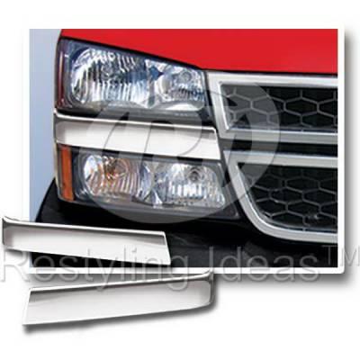 Silverado - Front Bumper - Restyling Ideas - Chevrolet Silverado Restyling Ideas Underhead Light Molding - 62-SS-CHSIL07CLA