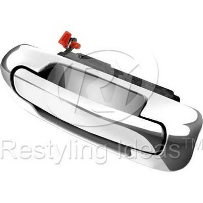 Suv Truck Accessories - Chrome Billet Door Handles - Restyling Ideas - Jeep Grand Cherokee Restyling Ideas Rear Lift Door Handle & Bezel - 65-JEGRC99