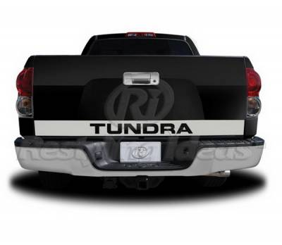 Suv Truck Accessories - Tail Gate Lock - Restyling Ideas - Toyota Tundra Restyling Ideas Signature-X Tailgate Accents - Stainless Steel - 65-SS-TOTUN07