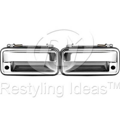 Suv Truck Accessories - Chrome Billet Door Handles - Restyling Ideas - GMC C1500 Pickup Restyling Ideas Door Handle - 68-CVC1088-2K