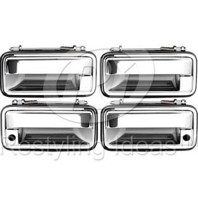 Suv Truck Accessories - Chrome Billet Door Handles - Restyling Ideas - GMC C1500 Pickup Restyling Ideas Door Handle - 68-CVC1088-4K