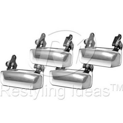Suv Truck Accessories - Chrome Billet Door Handles - Restyling Ideas - Mercury Mountaineer Restyling Ideas Door Handle - 68-FOEPL98-4