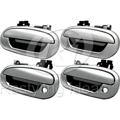 SUV Truck Accessories - Chrome Billet Door Handles - Restyling Ideas - Lincoln Navigator Restyling Ideas Door Handle - 68-FOF1597-4K