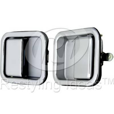 Suv Truck Accessories - Chrome Billet Door Handles - Restyling Ideas - Jeep Wrangler Restyling Ideas Door Handle - 68-JEWRA86F-2