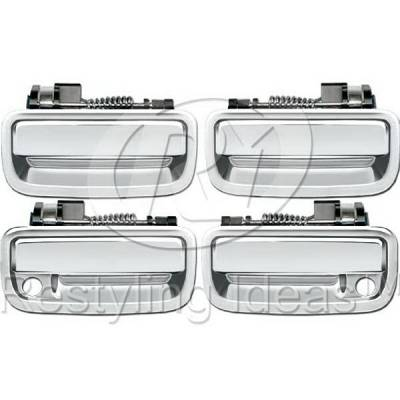 Suv Truck Accessories - Chrome Billet Door Handles - Restyling Ideas - Toyota Tacoma Restyling Ideas Door Handle - 68-TOTAC95-4K