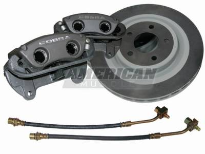 Ford Racing - Ford Mustang Ford Racing Black Cobra Brake Upgrade Kit - Front - 50015