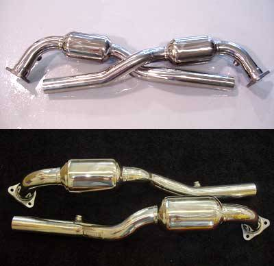 Exhaust - Custom Fit Exhaust - FabSpeed - MAXFLO Sport Race Catalytic Converters