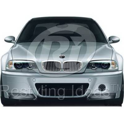Grilles - Custom Fit Grilles - Restyling Ideas - BMW 3 Series 2DR Restyling Ideas Performance Grille - 72-GB-3SE46022-CCS