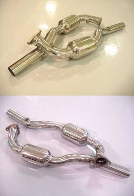 Exhaust - Custom Fit Exhaust - FabSpeed - Sport Catalytic Converter Pipes
