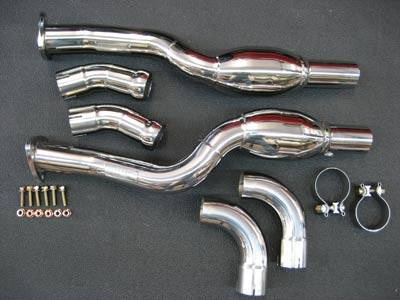 Exhaust - Custom Fit Exhaust - FabSpeed - Bischof Sport Catalytic Converter Pipes