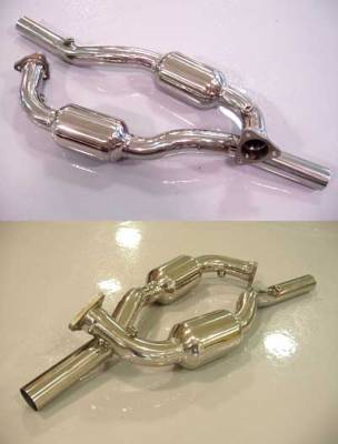 Exhaust - Custom Fit Exhaust - FabSpeed - Sports Race Catalytic Converter Pipes
