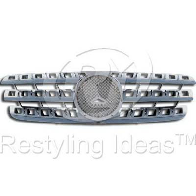 Grilles - Custom Fit Grilles - Restyling Ideas - Mercedes ML Restyling Ideas Performance Grille - 72-GM-MCLS98-GC