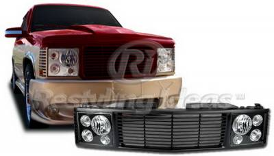 Grilles - Custom Fit Grilles - Restyling Ideas - Chevrolet CK Truck Restyling Ideas Grille - 72-OC-C1094RR-BB
