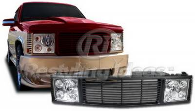 Grilles - Custom Fit Grilles - Restyling Ideas - Chevrolet CK Truck Restyling Ideas Grille - 72-OC-C1094RR-BC