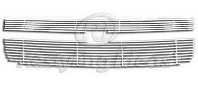 Grilles - Custom Fit Grilles - Restyling Ideas - Chevrolet Equinox Restyling Ideas Upper Grille -Stainless Steel Chrome Plated Billet - 72-SB-CHEQU05-T